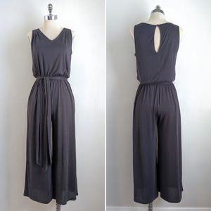 Prologue Jersey Knit Wide Leg Jumpsuit in Grey